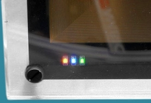 Close-up showing Status LEDs