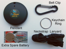 Contents of package showing accessories