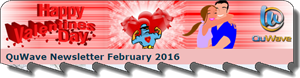 QuWave February Valentine's 2016 Newsletter