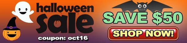 Halloween SALE $50 OFF!!!
