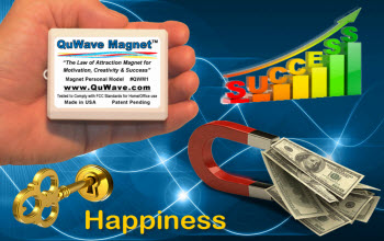 QuWave Law of Attraction Magnet, QuWave Money Magnet