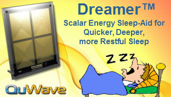 QuWave Dreamer - Scalar Energy Sleep-Aid for Quicker, Deeper, more Restful Sleep.